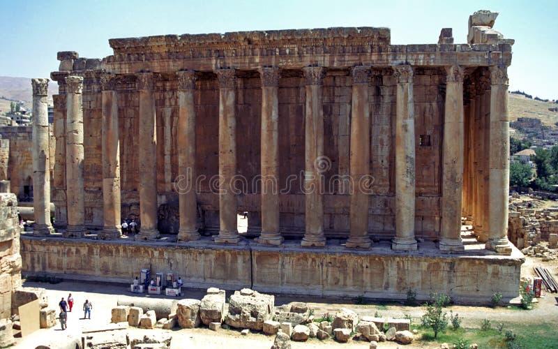 Templo do Baco, Baalbek, Líbano imagem de stock