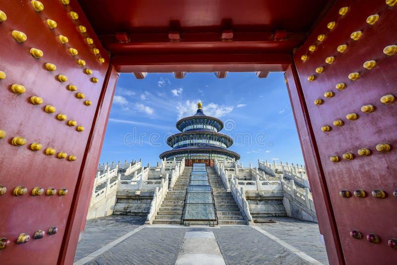 Templo do Céu no Pequim fotos de stock royalty free