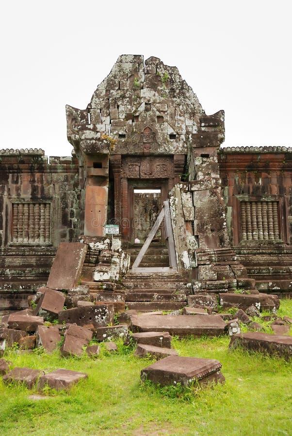 Templo do champasak do phu de Wat, laos fotografia de stock