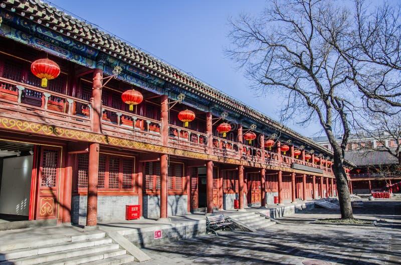 Templo do deus de Mount Tai, Pequim imagem de stock