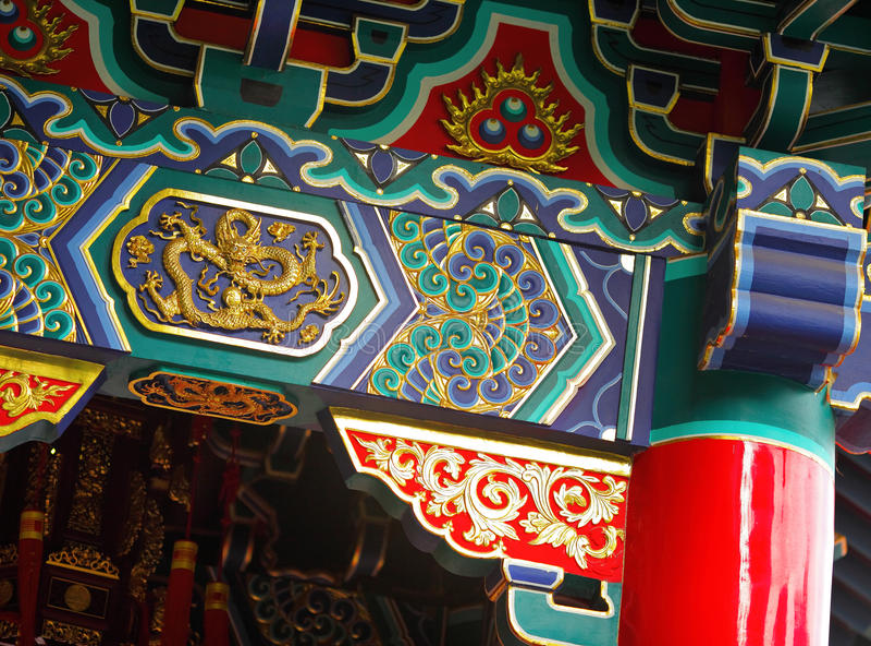 Templo do estilo chinês fotos de stock