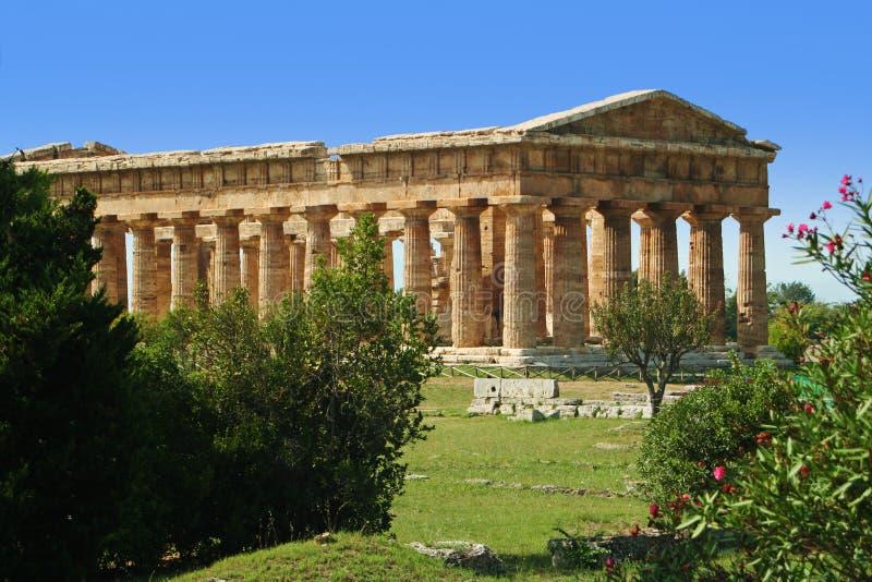 Templo do grego clássico em Itália do sul - Agropoli fotos de stock