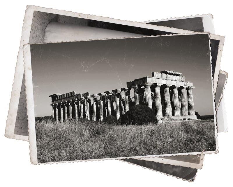 Templo do grego das fotos do vintage imagens de stock