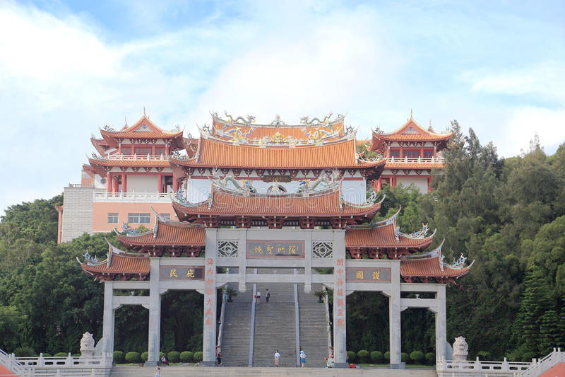 Templo do hou de Thean, templo do mazu em meizhou imagens de stock royalty free