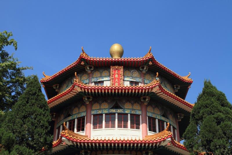 Templo do instituto de Yuen Yuen, Hong Kong foto de stock