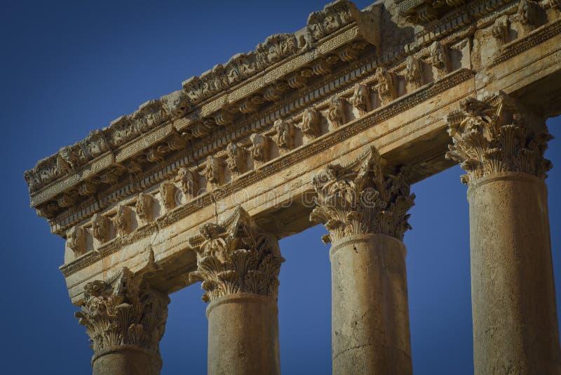 Templo do Júpiter, Baalbek Líbano imagens de stock