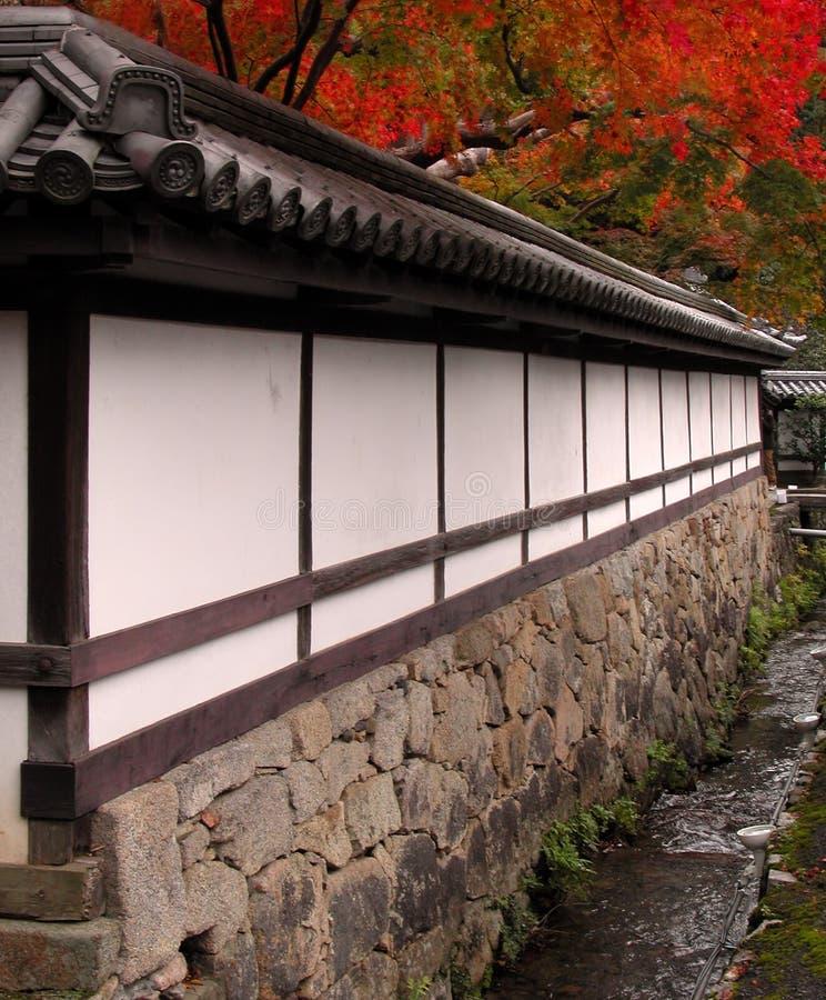 Templo do japonês do outono fotografia de stock