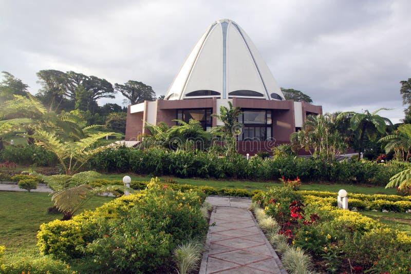 Templo do jardim e do bahai imagens de stock royalty free