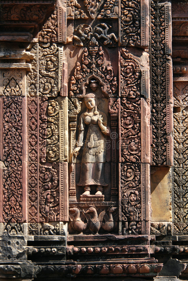 Templo do Khmer foto de stock