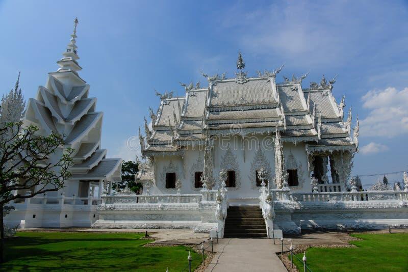 Templo do khun do rong de Wat em ChiangRai, Tailândia fotografia de stock royalty free