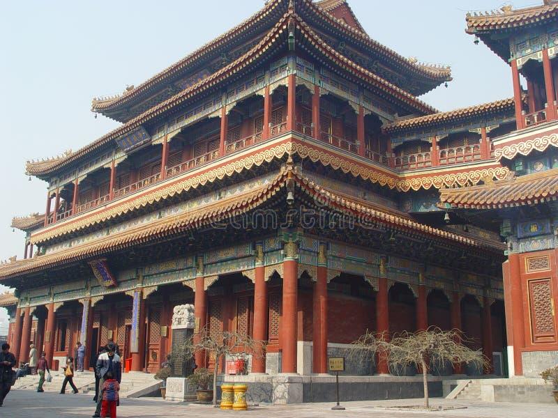 Templo do Lama, Beijing fotografia de stock