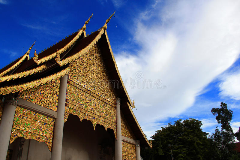 Templo do luang de Chedi fotografia de stock royalty free