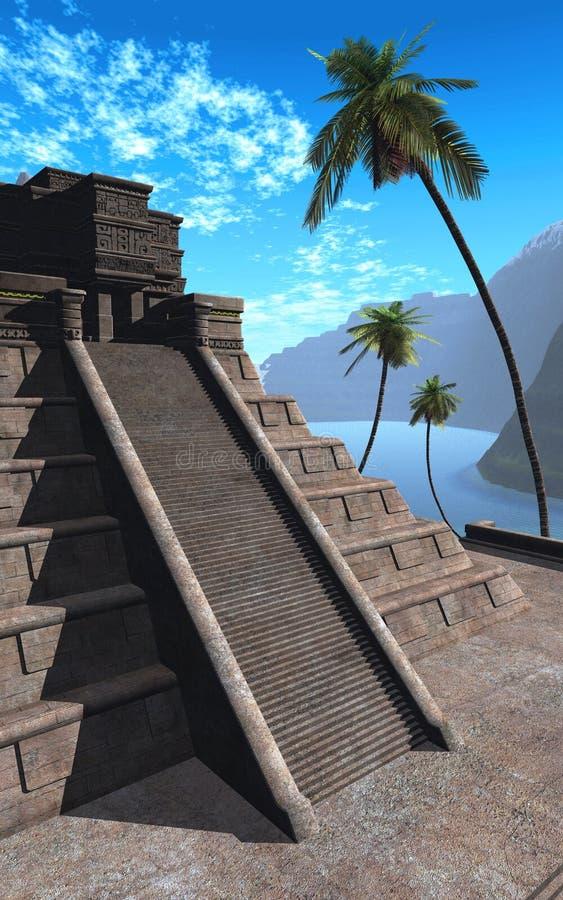 Templo do Maya   ilustração stock