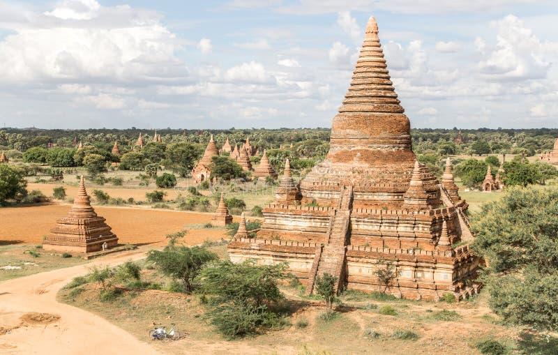 Templo do pagode de Mingalazedi em Bagan, Myanmar imagem de stock