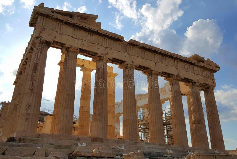 Templo do Partenon, acrópole, Atenas, Grécia foto de stock royalty free