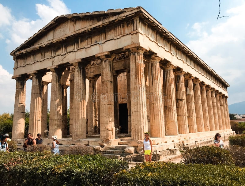 Templo do Partenon na herança da acrópole de Atenas imagens de stock royalty free