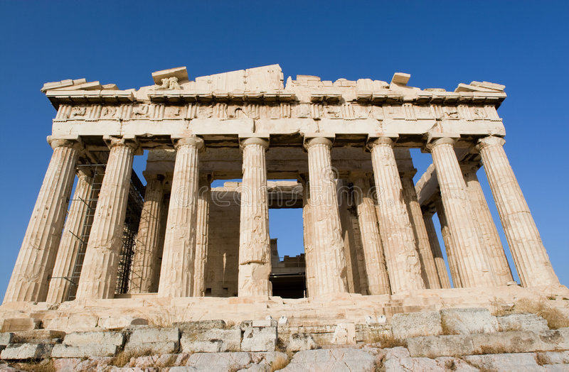 Templo do Parthenon em Atenas foto de stock royalty free