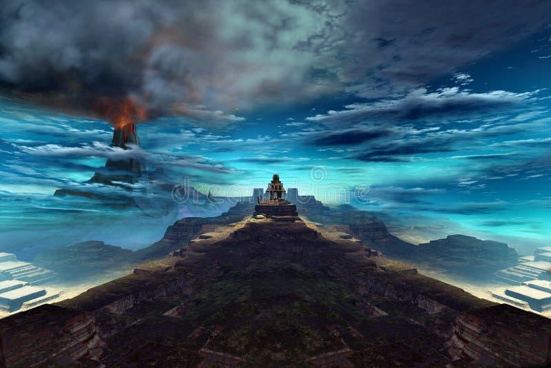 Templo do rei do incêndio ilustração royalty free