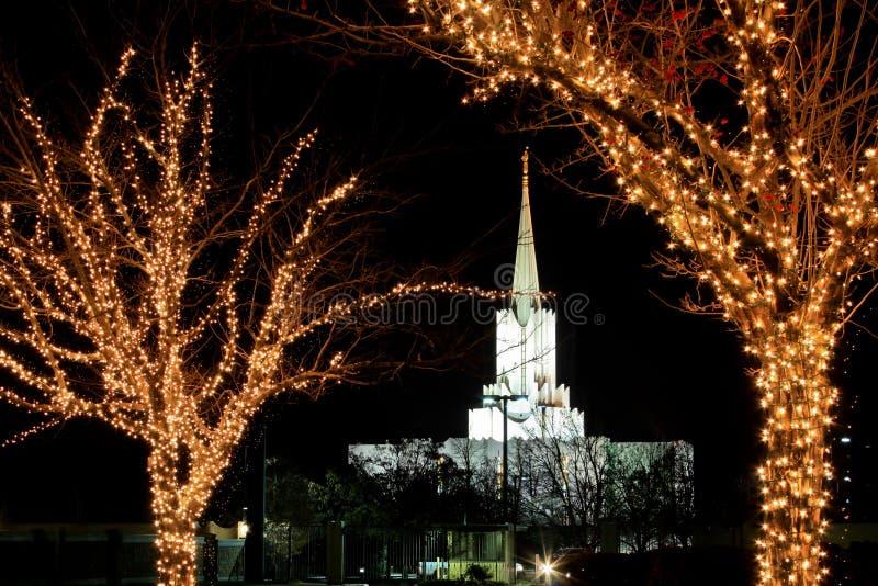 Templo do rio Jordão do tempo do Natal @ fotos de stock