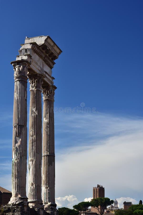 Templo do rodízio e do Pollux imagem de stock royalty free