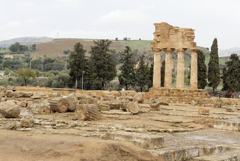 Templo do rodízio e do Polux imagem de stock