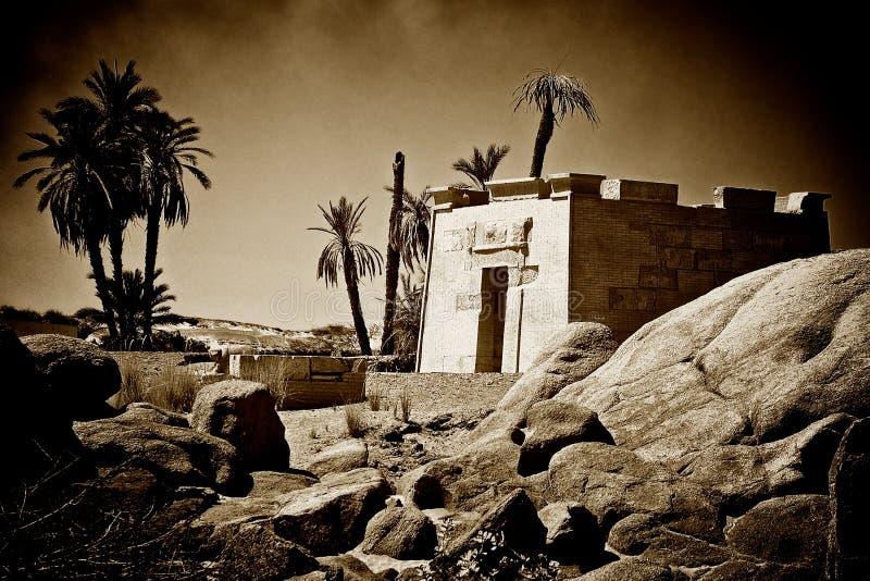 Templo do Sepia imagens de stock royalty free