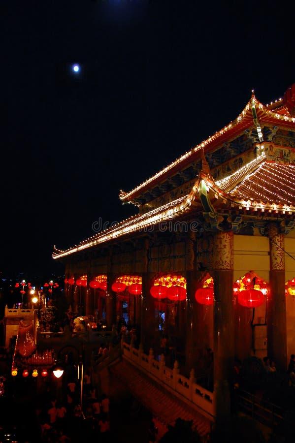 Templo do si do lok de Kek fotografia de stock