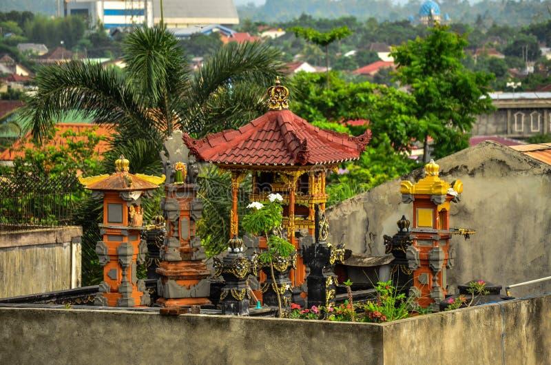Templo do telhado foto de stock