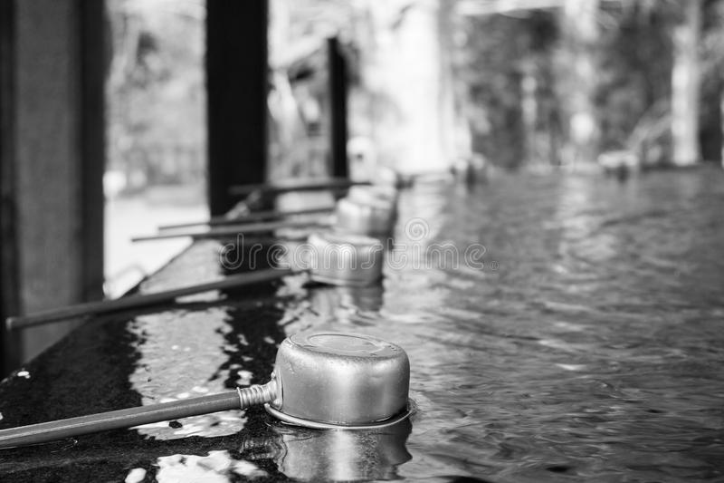 Templo do tubo da água fotos de stock royalty free