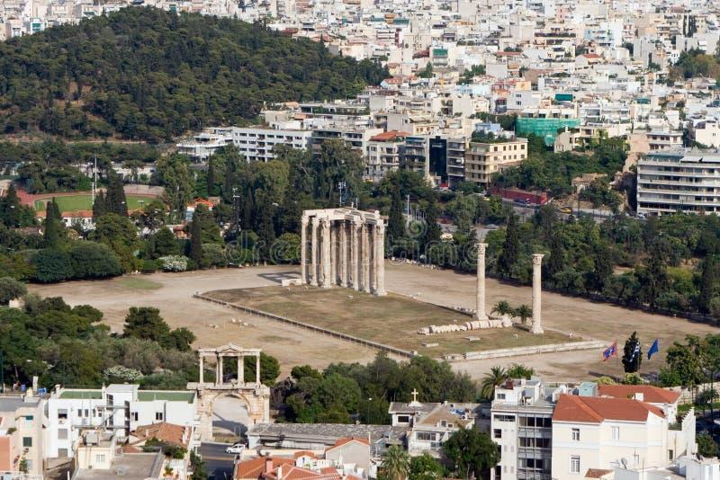 Templo do Zeus imagem de stock