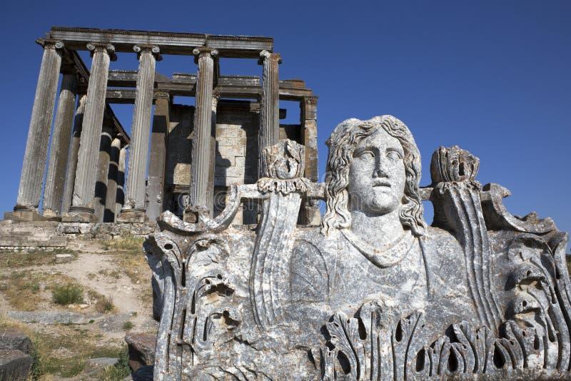 Templo do Zeus, Aizanoi, Cavdarhisar, Kutahya, Turquia fotos de stock royalty free