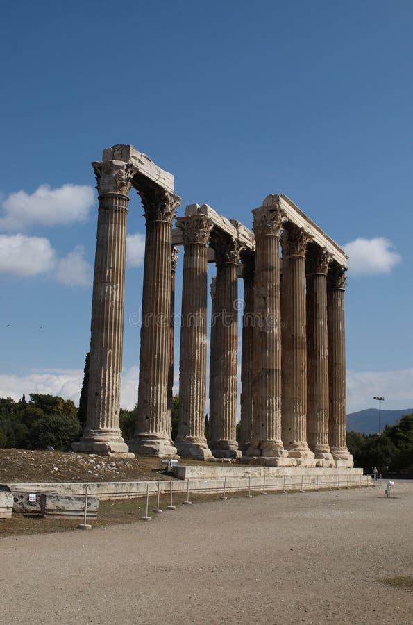 Templo Do Zeus Do Olímpico Fotos de Stock Royalty Free