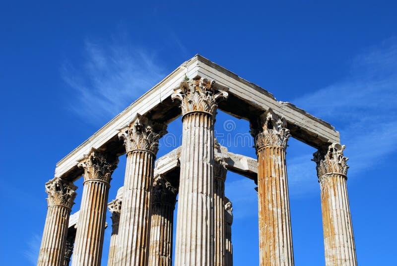 Templo do zeus do olímpico, Atenas fotografia de stock