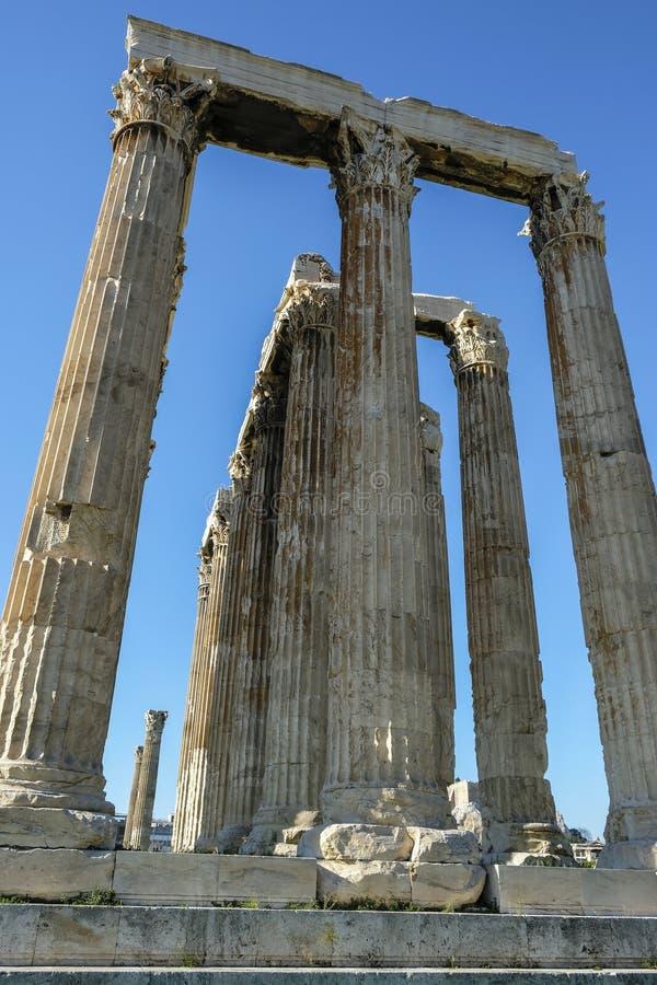 Templo do Zeus do olímpico em Atenas, Greece imagem de stock royalty free