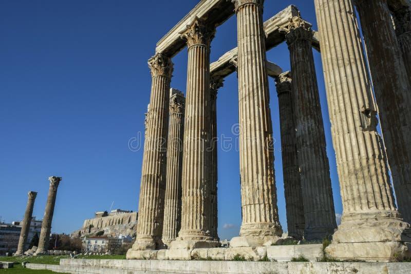 Templo do Zeus do olímpico em Atenas, Greece imagens de stock royalty free