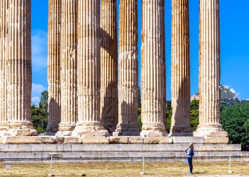 Templo do Zeus do ol?mpico, Atenas, Greece fotos de stock royalty free