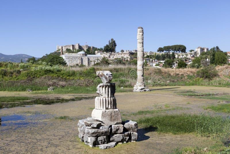 Templo dos artemis Selcuk Turquia fotos de stock royalty free