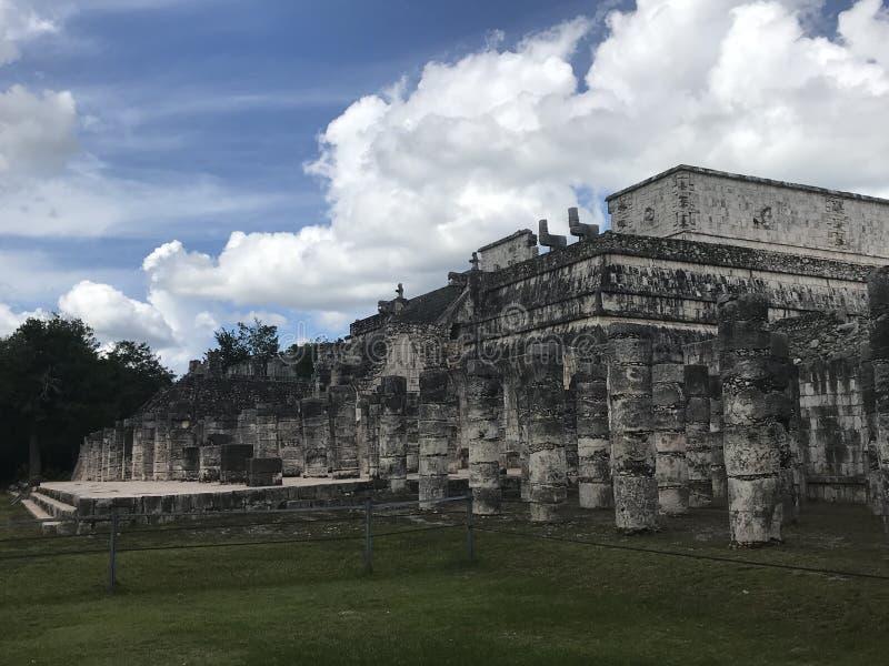 Templo dos guerreiros fotografia de stock
