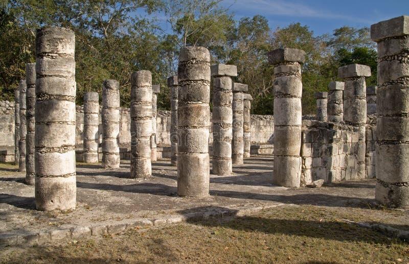 Templo dos guerreiros, Chichen Itza imagem de stock royalty free