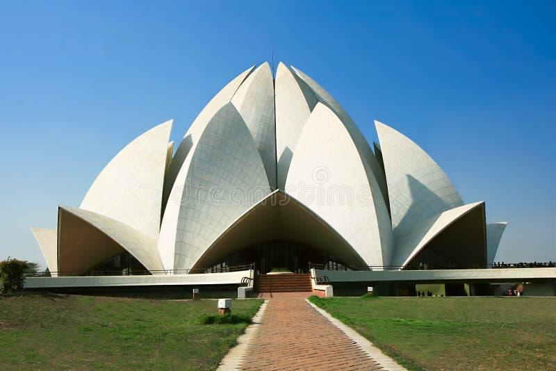 Templo dos lótus em Deli, India imagens de stock