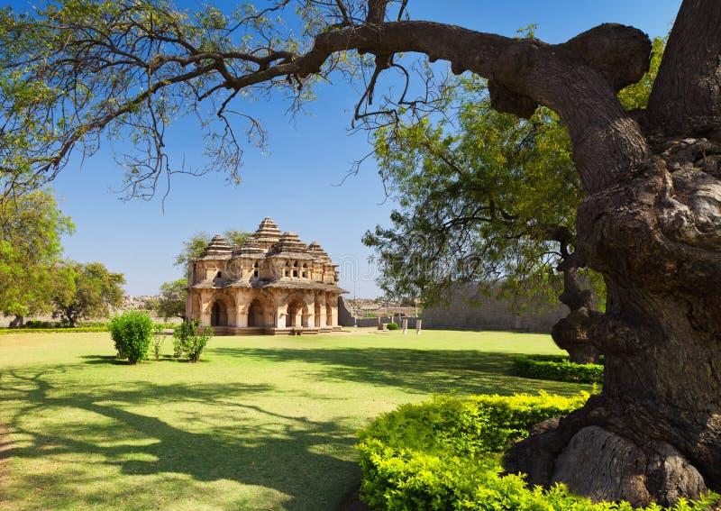 Templo dos lótus, India fotografia de stock