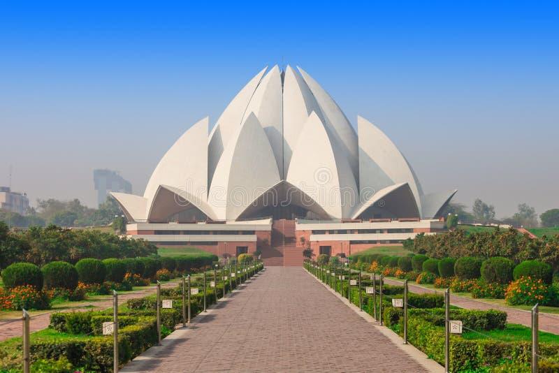 Templo dos lótus, India imagem de stock