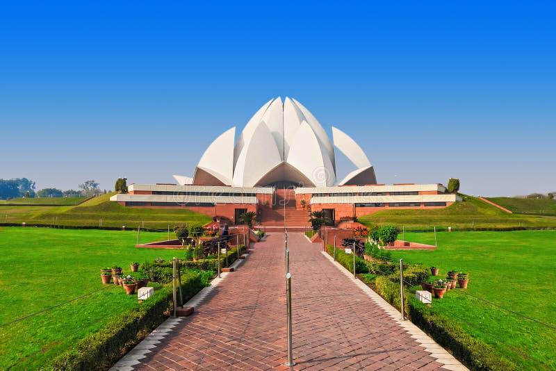 Templo dos lótus, India imagem de stock royalty free