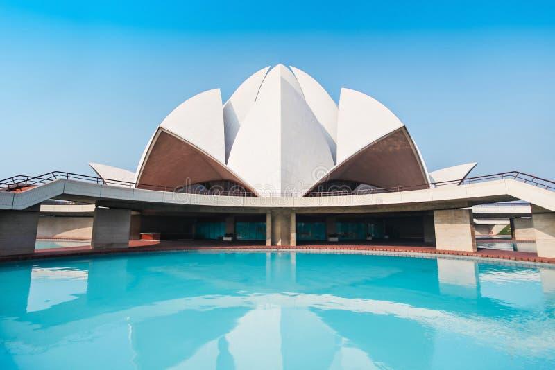 Templo dos lótus, India fotos de stock royalty free