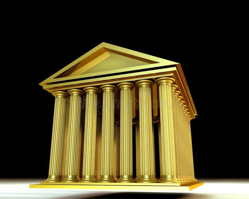 Templo dourado ilustração stock