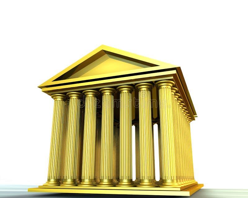 Templo dourado ilustração royalty free