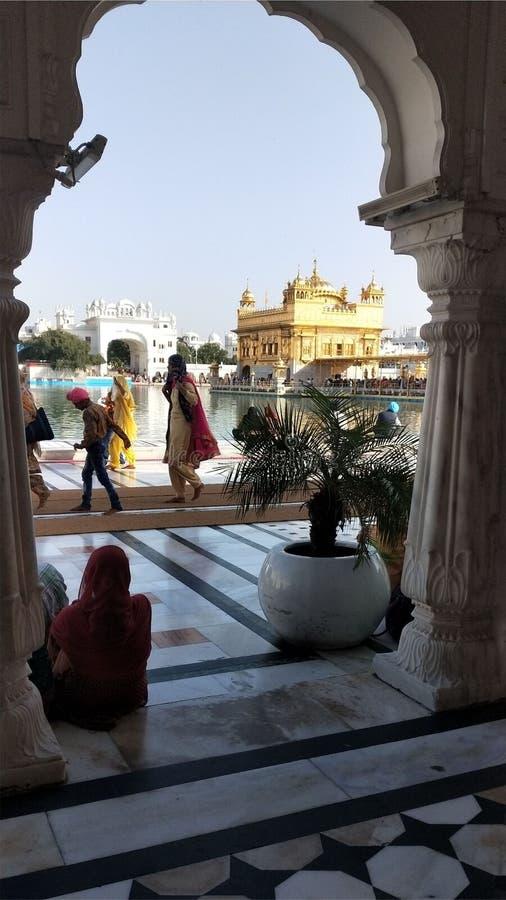 Templo dourado Amritsar de Gurudwara Darbar Sahib, Punjab fotos de stock