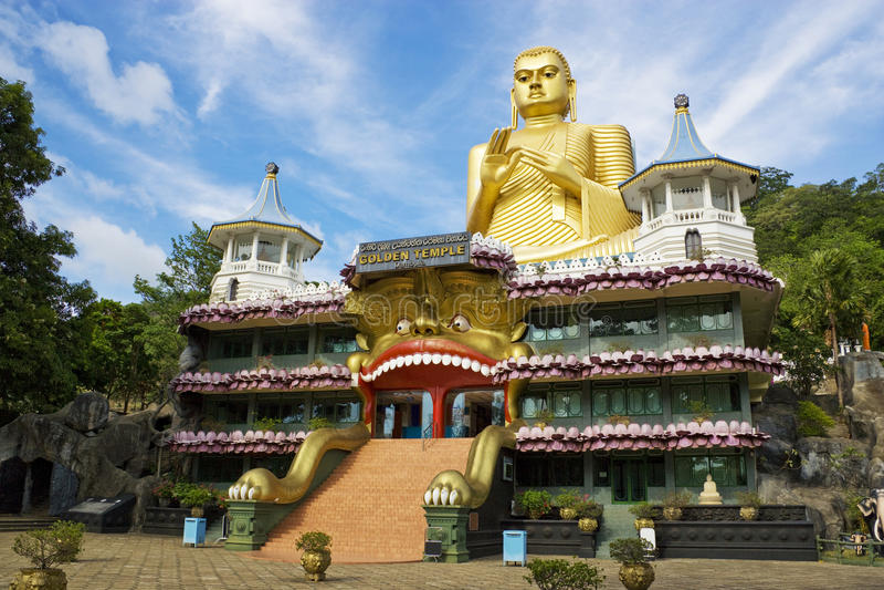 Templo dourado, Dambulla, Sri Lanka imagem de stock royalty free