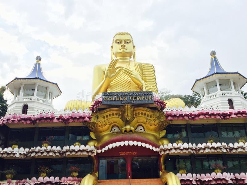 Templo dourado de Dambulla imagem de stock royalty free