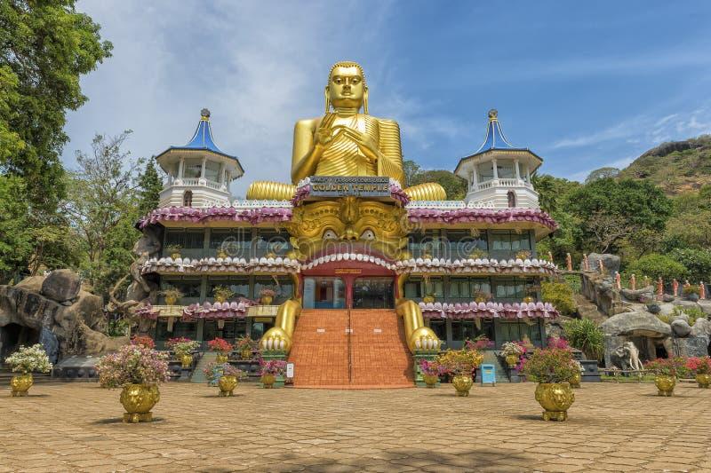 Templo dourado sagrado de Sri Lanka foto de stock royalty free